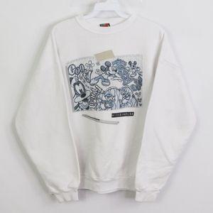 Vtg 80s Disney Mens Small Mickey Sketch Sweatshirt
